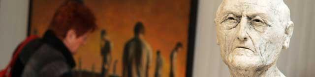 Fra udstillingen 'Mageløse mennesker' med Jacob Rantzau og Lars Calmar